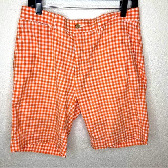 Polo Ralph Lauren Orange Gingham Suffield Shorts